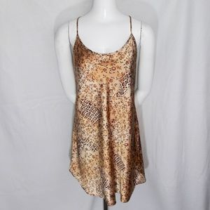 Secret Treasures Gold Floral Animal Print Chemise